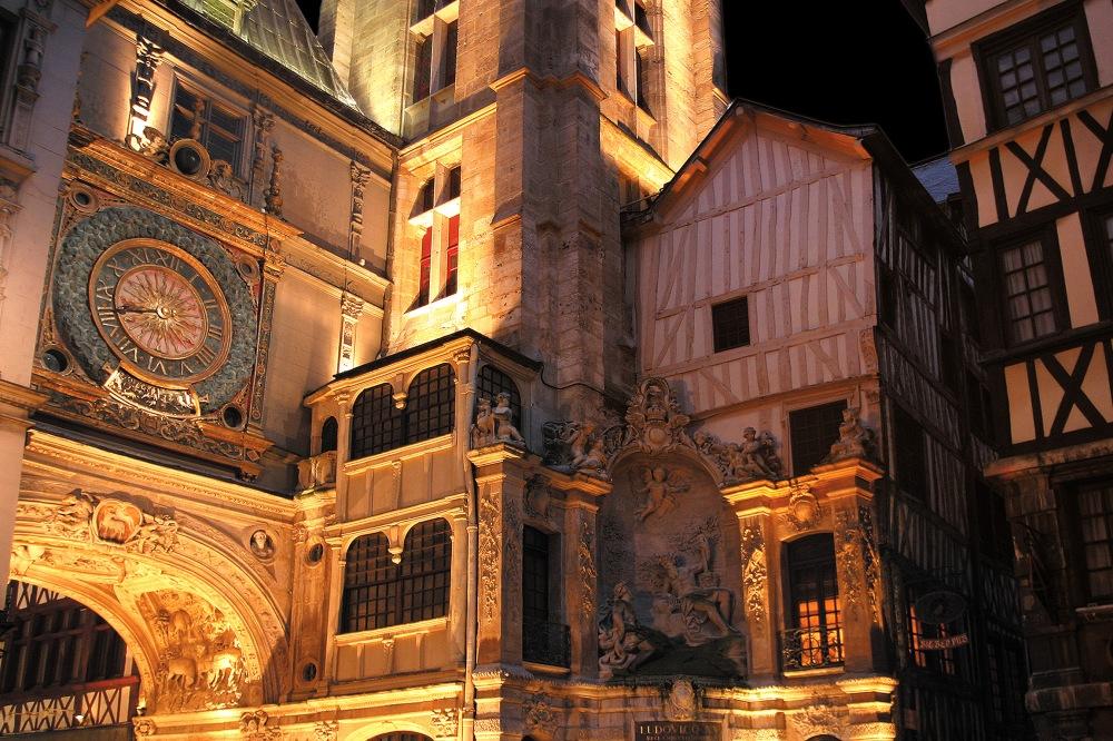 Gros Horloge nuit © B. Voisin