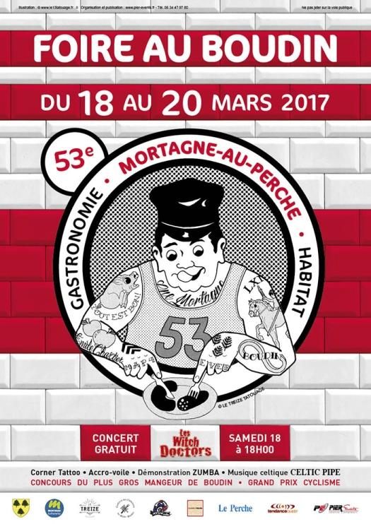 Affiche Foire au Boudin_2017 ©Mortagne Tourisme