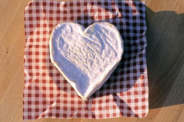 Heart-shaped Camembert Cheese