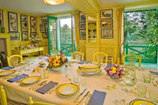 Fondation Claude Monet - Salle +á manger de Claude Monet 1